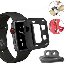 TPU Rubber Case For Apple Watch 4 40/44mm + Soft Airpod Stra