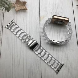 Transparent Resin Watch Band Strap For Apple Watch Series 5/
