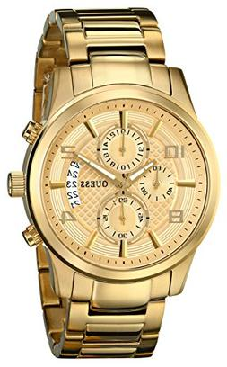 GUESS Men's U0075G5 Dressy Gold-Tone Stainless Steel Multi-F