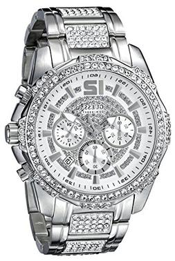 GUESS Men's U0291G1 Sporty Silver-Tone Stainless Steel Watch