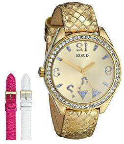 GUESS Women's U0352L3 Iconic Gold-Tone Wardrobe Watch Set wi