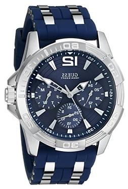 GUESS Men's U0366G2 Sporty Silver-Tone Stainless Steel Watch