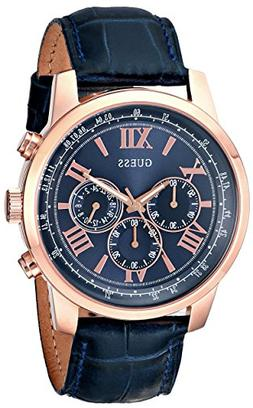 GUESS Men's U0380G5 Iconic Rose Gold-Tone Stainless Steel Wa