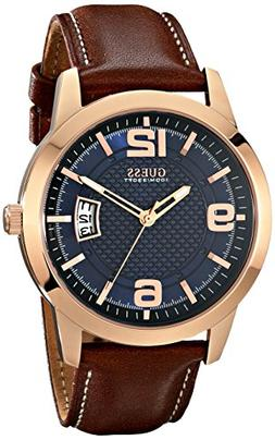 GUESS Men's U0494G2 Contemporary Rose Gold-Tone Stainless St