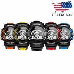 Unisex Digital LED Sports Watch Silicone Band Wrist Watches