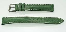 Fossil Unisex Stainless Steel Green Leather Replacement Watc