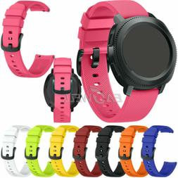 Universal 20mm Sport Silicone Watch Band Strap For Samsung G