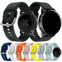 Universal 20mm Sport Silicone Watch Wrist Band Replacement S