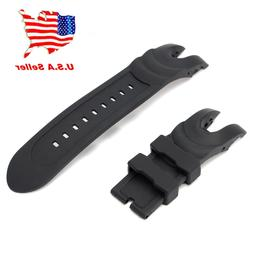 US!Black Rubber Wristwatch Watch Band Strap For Invicta Re