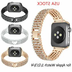 US Bling Diamond Watch Strap for iWatch Series 5 4 3 2 Apple