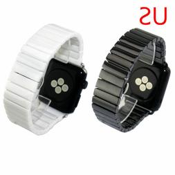 US Ceramic Link Bracelet for Apple Watch Band Series 5 4 3 2