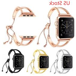 US Metal Strap Stretch Bracelet for Apple Watch Series 5 4 3