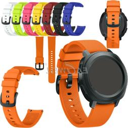 US Universal 20mm Sport Soft Silicone Watch Band Replacement