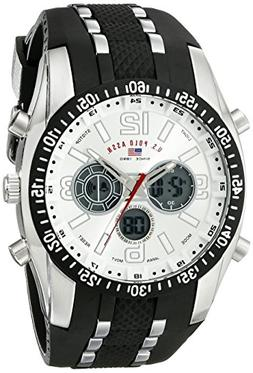 U.S. Polo Assn. Sport Men's US9061 Watch with Black Rubber S