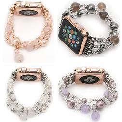 USA Agate Beads Watch Band for Apple Watch iWatch 6 5 4 3 2