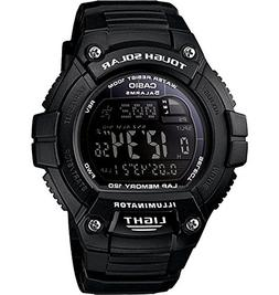 "Casio Men's W-S220-1BVCF ""Tough Solar"" Running Watch with Bl"