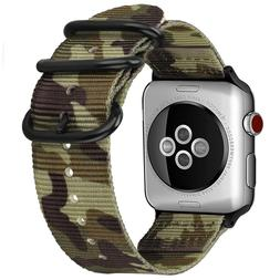 For Apple Watch Band 44mm Series 5 Series 4 Woven Nylon Stra