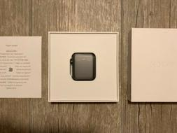 Apple Watch Series 3 42mm Space Gray Aluminium Case with Bla