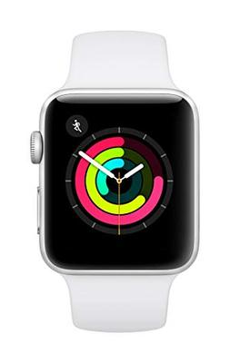AppleWatch Series3  - Silver Aluminium Case with White S