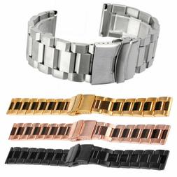 Waterproof Silicone Rubber Watch Strap Band Deployment Buckl