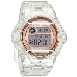 Baby-G White Womens Clear Jelly With Rose Gold Face Ana-Digi