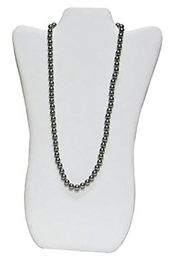 """1 X NEW White Leather Necklace Jewelry Display Easel 14"""" H"""