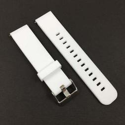 White Soft Silicone Replacement Watch Band Strap With Quick