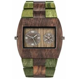 WeWood Wooden Watch - Jupiter Bicolor Chocolate Army
