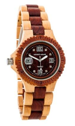 Tense All Wooden Sports Watch Two Tone Maple Sandalwood Mens