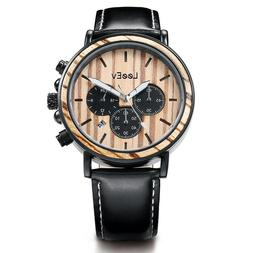 Wooden Watches for Men Relogio Masculino Mens Wood & Steel W