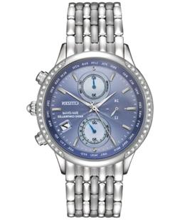 Citizen Women's World Chronograph A-t Eco-Drive Diamond Acce