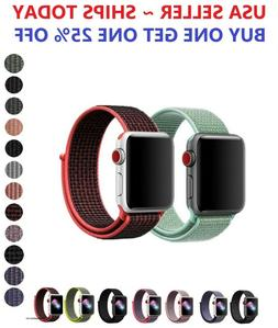 Woven Nylon Band for Apple Watch Sport Loop Series 6/5/4/3/2