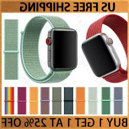 Woven Nylon Band For Apple Watch Sport Loop iWatch Series 5/