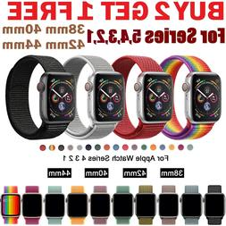 Woven Nylon Band For Apple Watch Sport Loop iWatch Series 4/