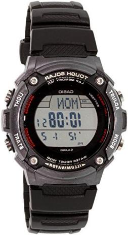 "Casio Men's WS200H-1BVCF ""Tough Solar"" Sport Watch with Blac"