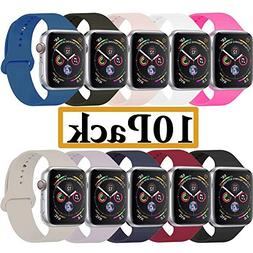 YANCH Compatible with for Apple Watch Band 42mm 44mm, Soft S