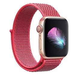 Yunsea Compatible with for Apple Watch Band 42mm, Soft Nylon
