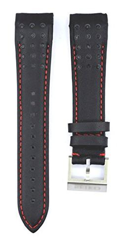 ZTD212 Fit for Seiko SCJC043 21mm Black Leather Watch Band S